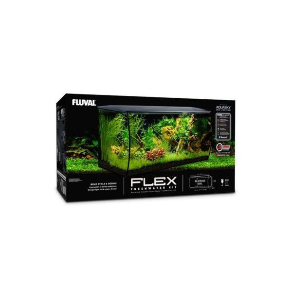 acuario fluval flex 123 litros negro caja
