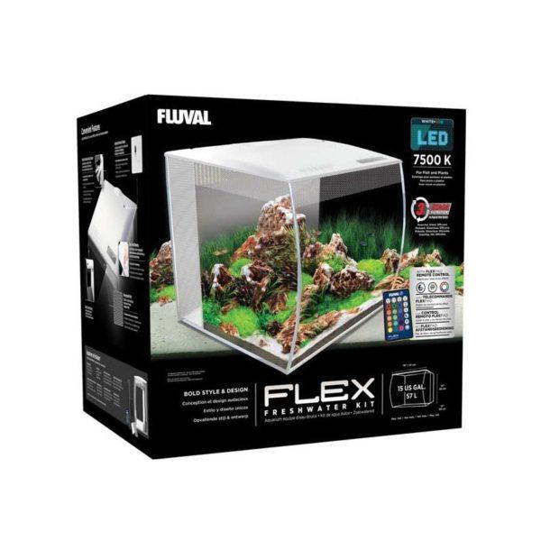 fluval flex 57 blanco caja