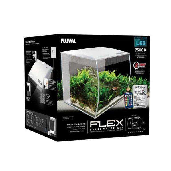 fluval flex blanco caja 34 litros