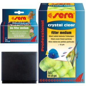 SERA Scaper Cube kit medios filtrantes