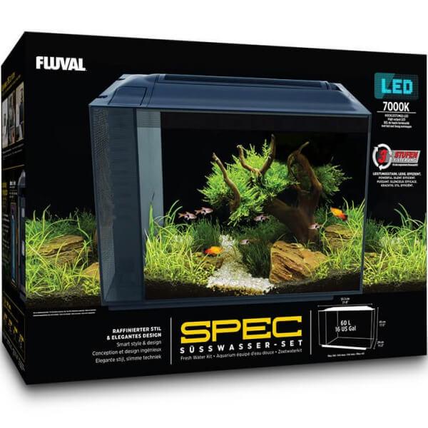Nano Acuario Fluval SPEC 60L negro